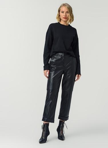Fabrika Fabrika Yuvarlak Yaka Uzun Kollu Kadın Sweatshirt Siyah